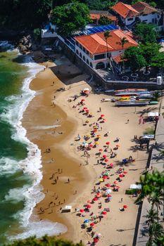 Aerial view of Urca beach