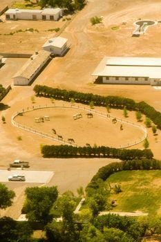 Aerial view of farm in Las Vegas