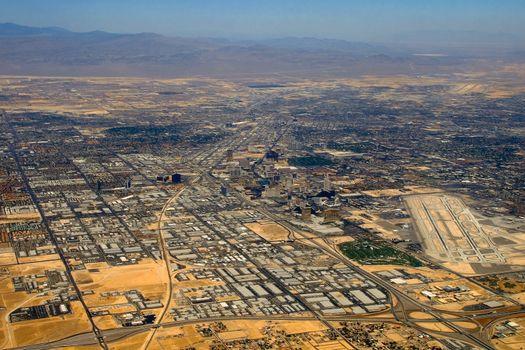 Aerial view over Las Vegas