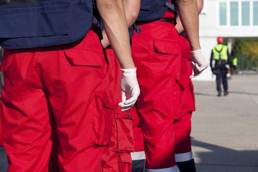 Paramedics ready to help