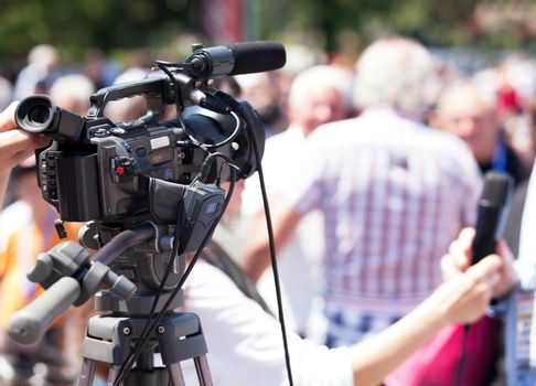 Capturing event with professional video camera