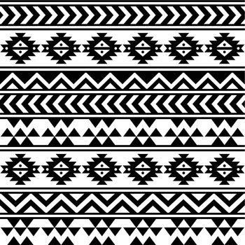 Vector seamless aztec ornament, ethnic background