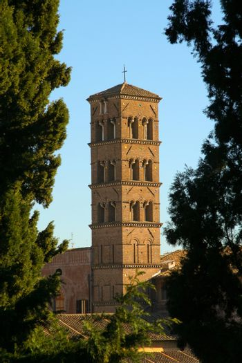 Bell tower of a church