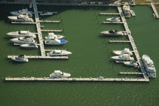 Boats in Miami marina