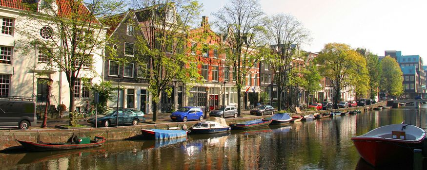 Canal in Amsterdam city
