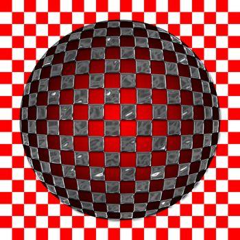 Checkered sphere