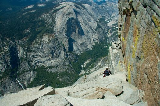 Climber on Half Dome