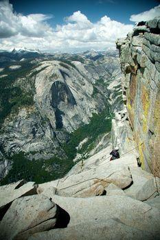 Climber on the Half Dome