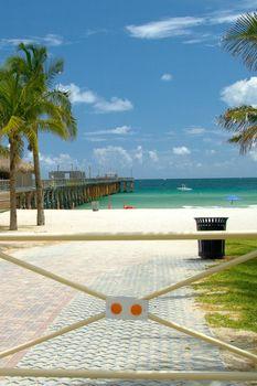 Entrance gate of a beach