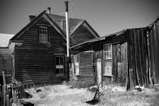 Historic buildings in ghost town