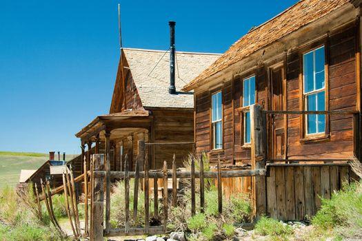 Historic wooden buildings