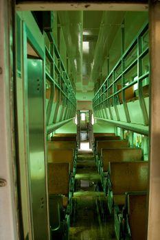 Interior of old passenger car