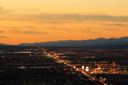 Las Vegas city at night