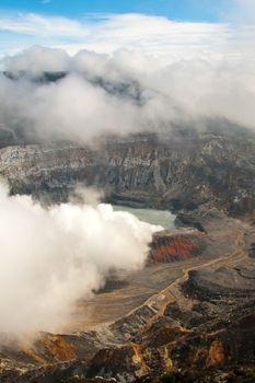 Main crater of Poas Volcano