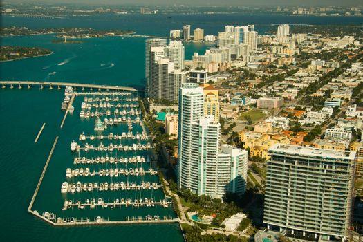 Miami city and marina
