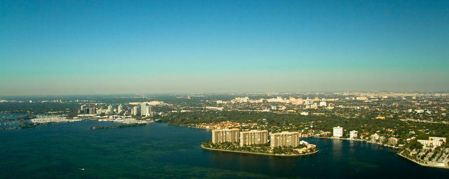 Miami city coastline