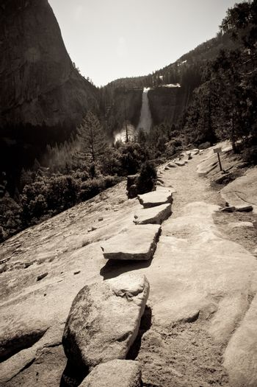 Rock trail in Yosemite