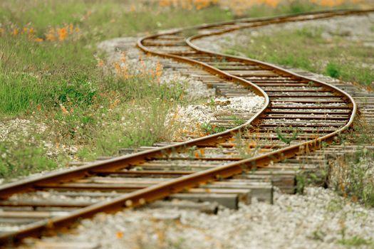 Rusty Railroad Tracks