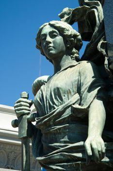 Statue in a cemetery