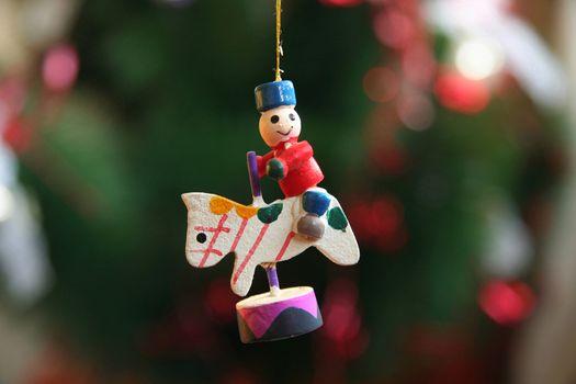 Wooden Christmas Carousel Ornament
