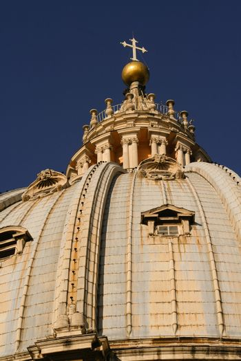 the dome of a St. Peter's Basilica