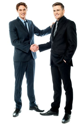 Business colleagues are now partners