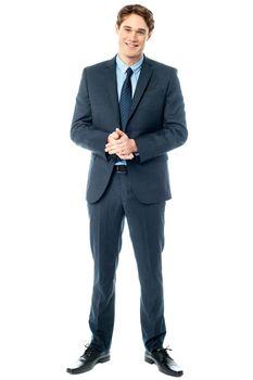 Studio shot of handsome corporate guy