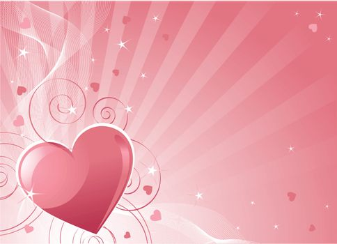 Abstract Valentine Day background with hearts. Place for copy\text