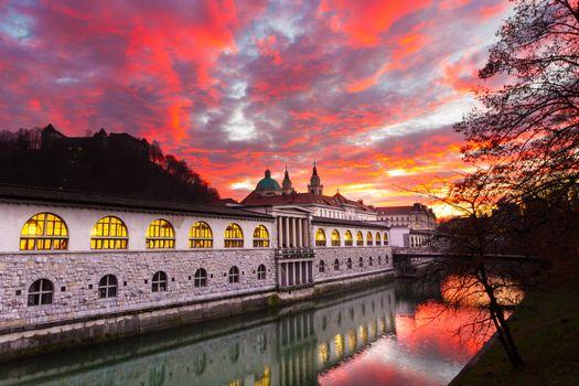 Ljubljana, capital of Slovenia, Europe.