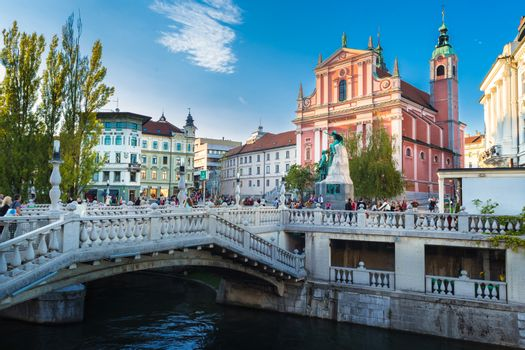 Medieval Ljubljana, Slovenia, Europe.