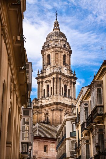 Belfray of the Malaga's cathedral