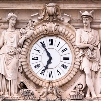 Vintage medieval ornate clock.