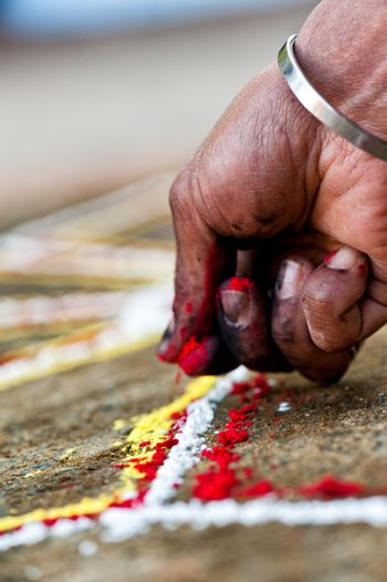 hand makes yantra in nepal