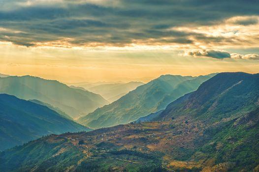 View from kalinchok Photeng towards the Kathmandu valley, Nepal