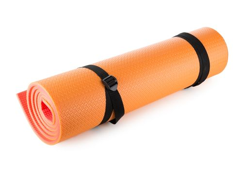 Orange camping mat