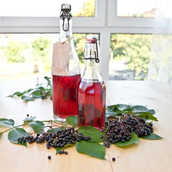 Syrup and elfer berries