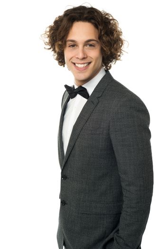 Portrait of a smart guy in designer suit