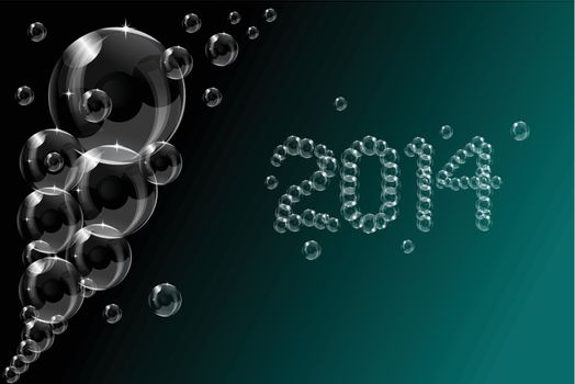 Abstract 2014 bubbles vector ilkustration