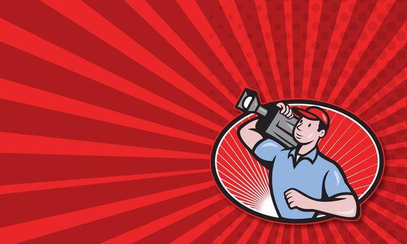Cameraman Film Crew Carry Camera