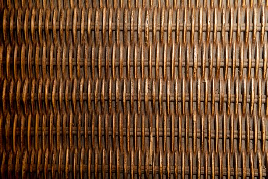 Close up photograph of a willow basket