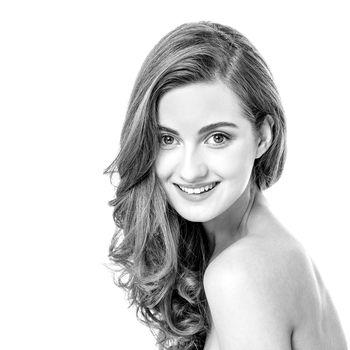 Sexy young flirtatious female model