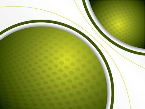 Cool green background with dotted texture and white space