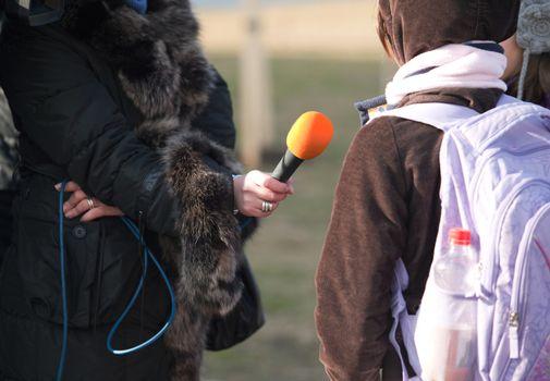 Interview with schoolgirl