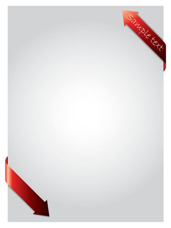 Red arrows curling paper