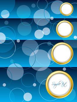 Dotted blue brochure design