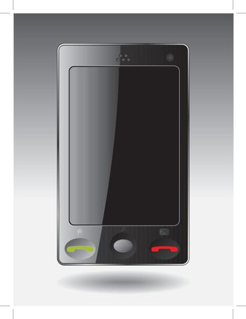 Cellphone with touchscreen