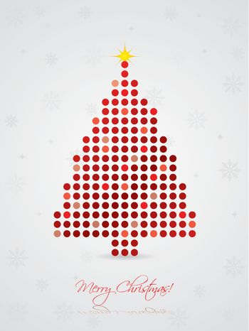 Cool dotted christmas card