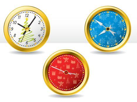 Christmas time clocks