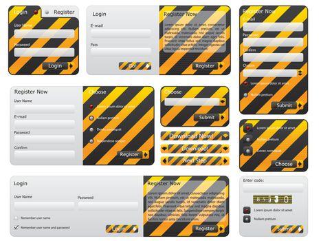 Warning and hazard website form set