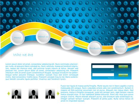 Dotted website template
